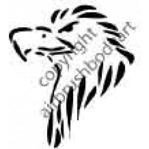 0249 eagle head reusable stencil